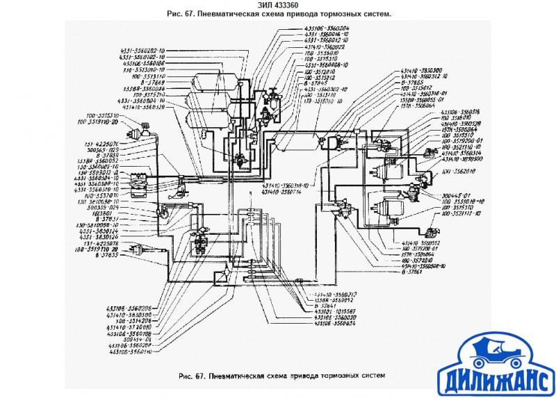 Пневматическая схема привода